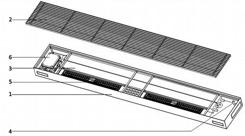 talni konvektorji za vlažne prostore